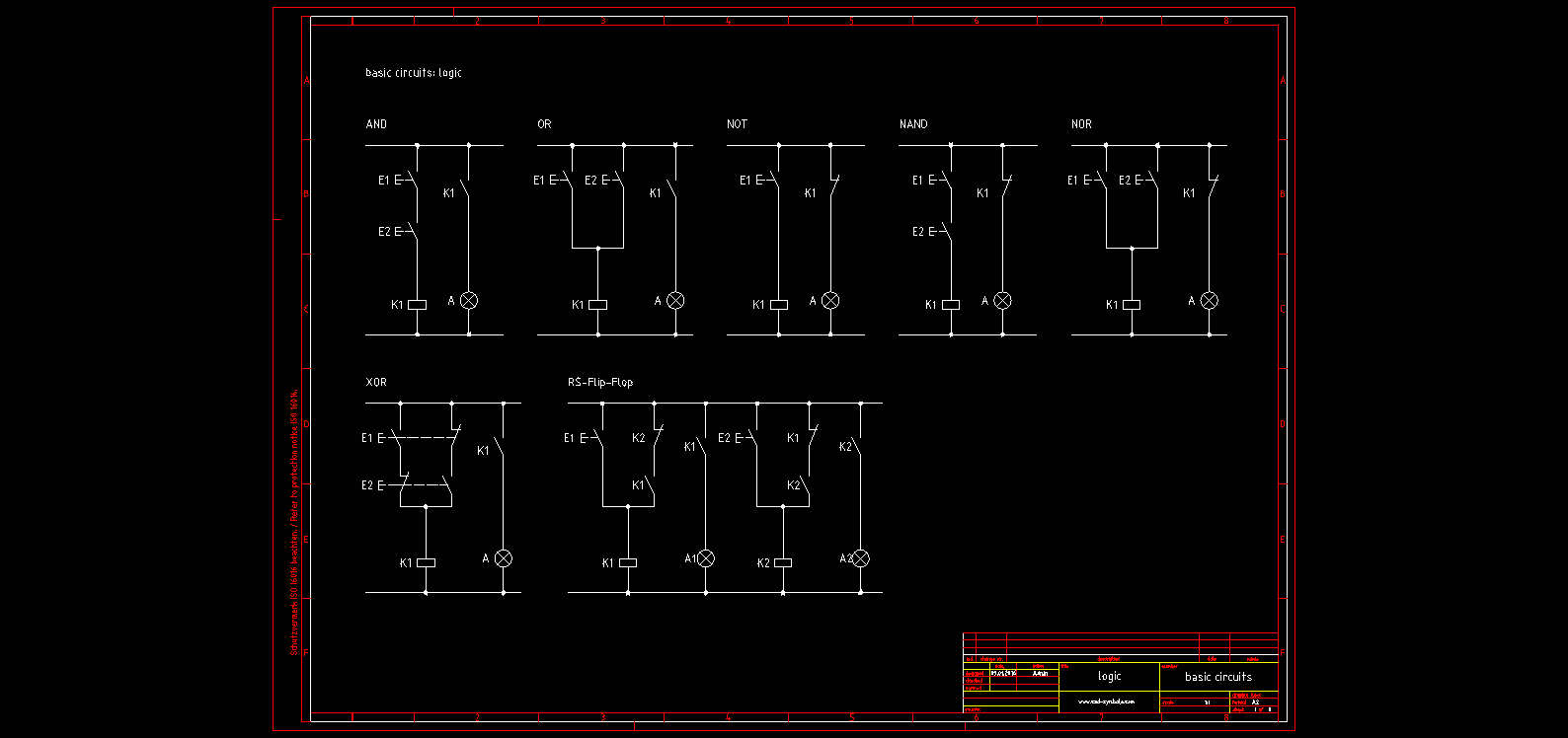Electrical Electronic Symbols Blocks English Cad Symbole Circuit Circuits Of And Library Autocad