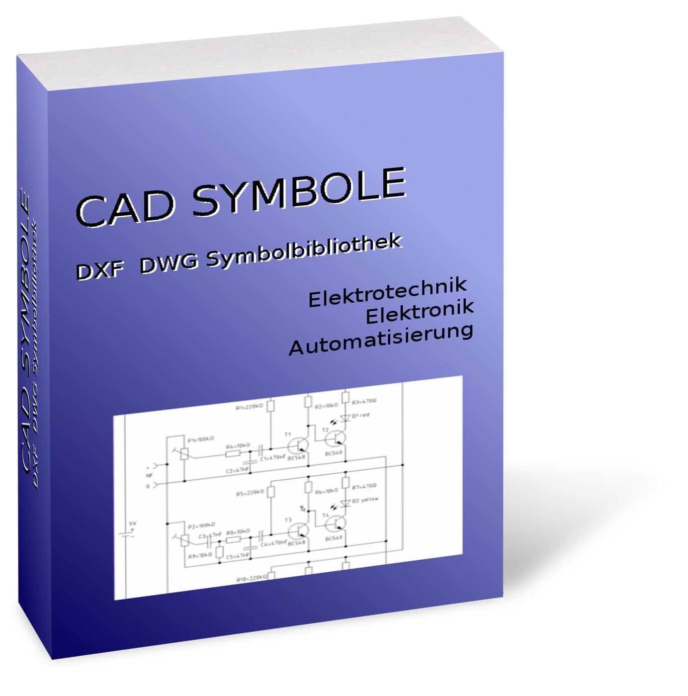 CAD Symbolbibliothek DXF / DWG - Elektronik Elektrotechnik Elektroinstallation